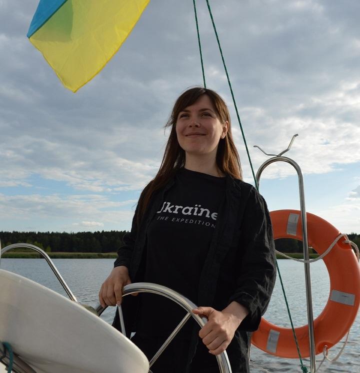 Каріна Пілюгіна – керівниця проєкту водної експедиції